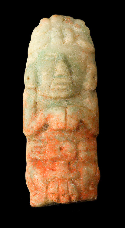 Jade statuette from Caracol, Belize