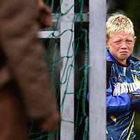 Nederland, De Kwakel, 04 oktober 2003.<br /> Voetbal, Pupillen-F<br /> KDO F2- Pancratius F4<br /> Tijd : 10.22 uur<br /> Foto:Klaas Jan van der Weij.