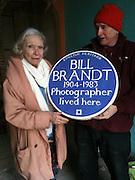 Noya Brandt with English Heritage Blue Plaque