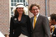 His highness prince Pieter-Christiaan of Oranje Nassau, of Vollenhoven and Ms drs. A.T. van Eijk get married Thursday 25 augusts in Palace the Loo in apeldoorn.<br /> <br /> <br /> Zijne Hoogheid Prins Pieter-Christiaan van Oranje-Nassau, van Vollenhoven en mevrouw drs. A.T. van Eijk treden donderdag 25 augustus in Paleis Het Loo te Apeldoorn in het huwelijk. <br /> <br /> On the photo/Op de foto:<br /> <br /> <br /> Zijne Hoogheid Prins Bernhard van Oranje-Nassau, van Vollenhoven <br /> Hare Hoogheid Prinses Annette van Oranje-Nassau, van Vollenhoven