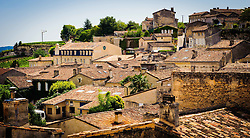Looking a cross the rooftops in Saint Emilion, France<br /> <br /> (c) Andrew Wilson | Edinburgh Elite media