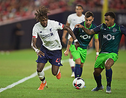 NEW YORK, NEW YORK, USA - Wednesday, July 24, 2019: Liverpool's Divock Origi during a friendly match between Liverpool FC and Sporting Clube de Portugal at the Yankee Stadium on day nine of the club's pre-season tour of America. (Pic by David Rawcliffe/Propaganda)