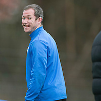 St Johnstone Training...10.01.14<br /> Frazer Wright pictured during training this morning ahead of tomorrow's game against St Mirren.<br /> Picture by Graeme Hart.<br /> Copyright Perthshire Picture Agency<br /> Tel: 01738 623350  Mobile: 07990 594431