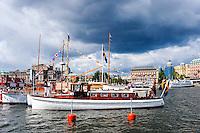Sweden, Stockholm. Veteran boats in Stockholm.