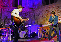 Steve and Joe Wall of The Stunning performing at Holy Trinity Church at Westport Arts Festival 2017. <br /> Photo Conor McKeown