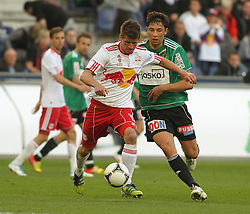 21.04.2012, Red Bull Arena, Salzburg, AUT, 1. FBL, FC Red Bull Salzburg vs SV Josko Ried, 31. Spieltag, im Bild Franz Schiemer, (FC Red Bull Salzburg, #15) und Robert Zulj, (SV Josko Ried, #22), during the Austrian Bundesliga Match, 31st Round, between FC Red Bull Salzburg and SV Josko Ried at the Red Bull Arena, Salzburg, Austria on 20120421. EXPA Pictures © 2012, PhotoCredit: EXPA/ R. Hackl