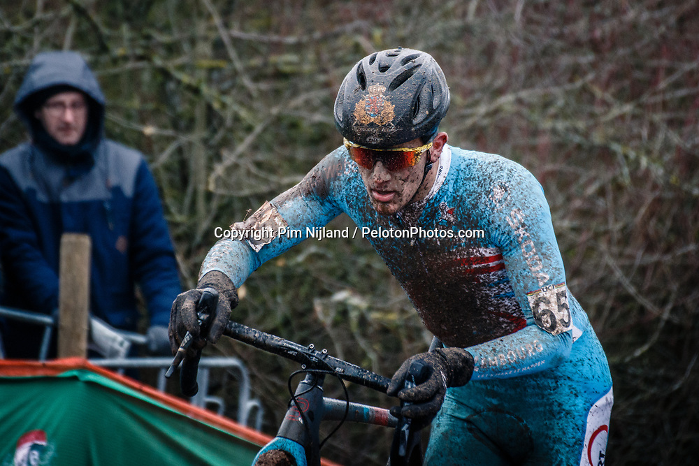 Luc TURCHI of LUX during the Men Under 23 race, UCI Cyclo-cross World Championship at Bieles, Luxembourg, 29 January 2017. Photo by Pim Nijland / PelotonPhotos.com | All photos usage must carry mandatory copyright credit (Peloton Photos | Pim Nijland)