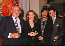 Left to right, owner of Tramp nightclub MR JOHNNY GOLD, MISS CLAIRE GOLD, MRS JOHNNY GOLD and MR NICK GOLD, at a party in London on 4th November 1998.MLO 57