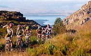 VILLIERSDORP, SOUTH AFRICA - Burry Stander and Christof Sauser during stage three , 3 , of the Absa Cape Epic Mountain Bike Stage Race held between Villiersdorp and Greyton on the 24 March 2009 in the Western Cape, South Africa..Photo by Karin Schermbrucker /SPORTZPICS