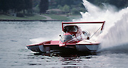 Miss Budweiser in test session at Lake Washington with Jim Kropfeld doing the honors.