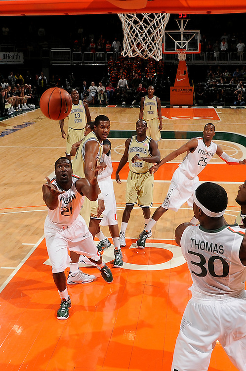2010 Miami Hurricanes Men's Basketball vs Georgia Tech