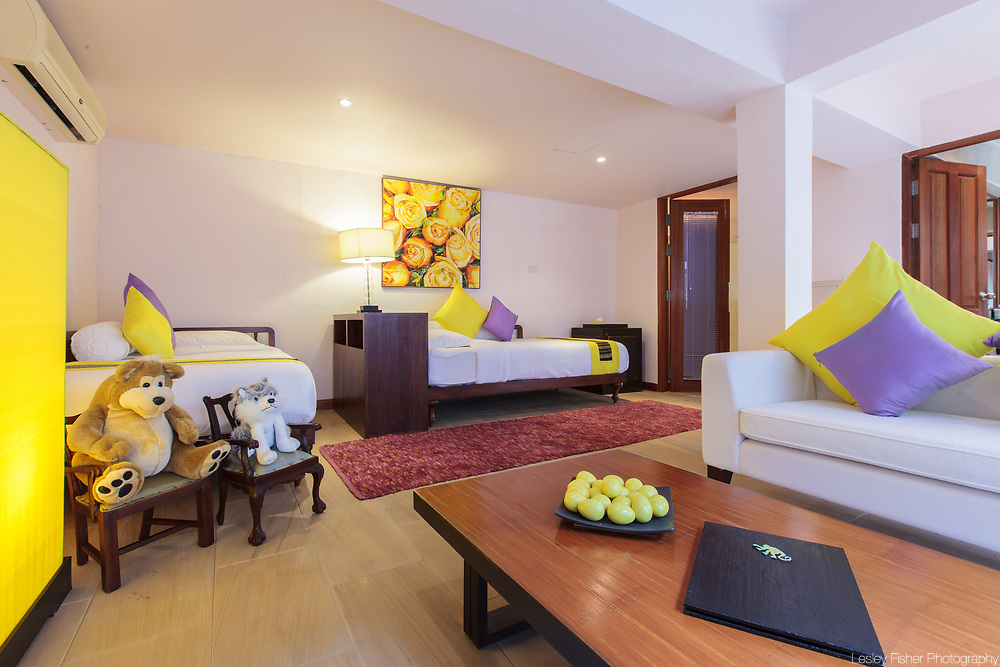 Children's bedroom at Baan Wanora, a luxury, private, beach front villa located in Laem Sor, Koh Samui, Thailand