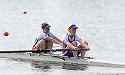 Eton, United Kingdom.  Bow, Abby JOHNSTON and Lauren CLARK, competing in the Women's Pair  Sat. time trial.  2011 GBRowing Trials, Dorney Lake. Saturday  16/04/2011  [Mandatory Credit; Peter Spurrier/Intersport-images] Venue For 2012 Olympic Regatta and Flat Water Canoe events.