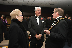CARDIFF, WALES - Wednesday, November 11, 2009: Wales' General Secretary David Collins chats with the Lord Mayor during the Football Association of Wales Player of the Year Awards hosted by Brains SA at the Cardiff City Stadium. (Pic by David Rawcliffe/Propaganda)