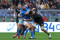 November 24, 2018 - Rome, Rome, Italy - Jayden Hayward and Vaea Fifita during the Test Match 2018 between Italy and New Zealand at Stadio Olimpico on November 24, 2018 in Rome, Italy. (Credit Image: © Emmanuele Ciancaglini/NurPhoto via ZUMA Press)