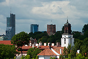 Skyline view of Vilnius, Lithuania over Old Town/Senamiestas