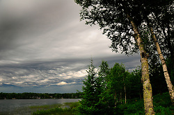 Unusual Undulatus Asperatus clouds form over Spider Lake in Northern Wisconsin.