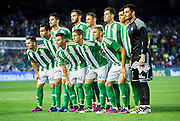 SEVILLE, SPAIN - OCTOBER 15:  Real Betis Balompie squad during the match between Real Betis Balompie and Real Madrid CF as part of La Liga at Benito Villamrin stadium October 15, 2016 in Seville, Spain.  (Photo by Aitor Alcalde/Getty Images)