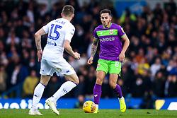 Josh Brownhill of Bristol City takes on Stuart Dallas of Leeds United - Mandatory by-line: Robbie Stephenson/JMP - 24/11/2018 - FOOTBALL - Elland Road - Leeds, England - Leeds United v Bristol City - Sky Bet Championship