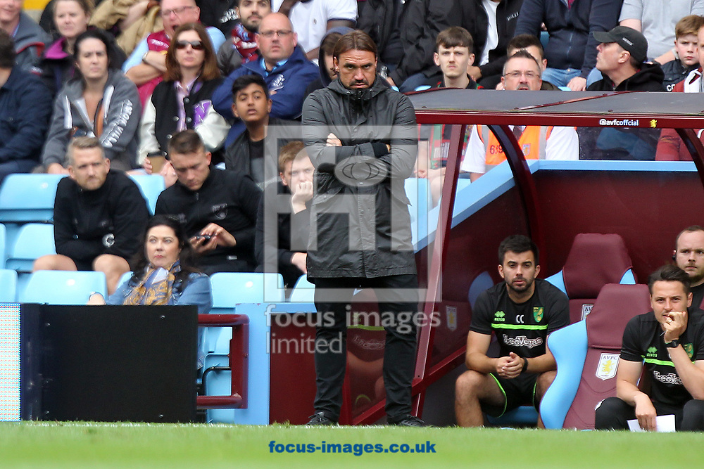 Norwich Head Coach Daniel Farke during the Sky Bet Championship match at Villa Park, Birmingham<br /> Picture by Paul Chesterton/Focus Images Ltd +44 7904 640267<br /> 19/08/2017