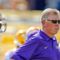 Oct 12, 2013; Baton Rouge, LA, USA; LSU Tigers offensive coordinator Cam Cameron prior to a game against the Florida Gators at Tiger Stadium. Mandatory Credit: Derick E. Hingle-USA TODAY Sports