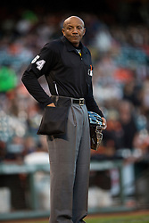 SAN FRANCISCO, CA - APRIL 16:  MLB umpire CB Bucknor #54 looks on during the first inning between the San Francisco Giants and the Arizona Diamondbacks at AT&T Park on April 16, 2015 in San Francisco, California.  The Arizona Diamondbacks defeated the San Francisco Giants 7-6 in 12 innings. (Photo by Jason O. Watson/Getty Images) *** Local Caption *** CB Bucknor