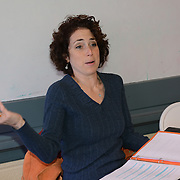 "Ilyse Robbins as Ellen in a rehearsal for Kent Stephen's ""Love and Faith and Other Dirty Words"""