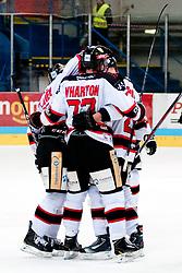 02.11.2012, Hostan Arena, Znojmo, CZE, EBEL, HC Orli Znojmo vs SAPA Fehervar, 18. Runde, im Bild Brian Bickel (Znojmo #29) Sven Klimbacher (Fehérvár #29) // during the Erste Bank Icehockey League 18nd round match betweeen HC Orli Znojmo and SAPA Fehervar at the Hostan Arena, Znojmo, Czech Republic on 2012/11/02. EXPA Pictures © 2012, PhotoCredit: EXPA/ Rostislav Pfeffer