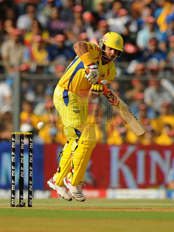 Suresh Raina of Chennai Super Kings bats during match 49 of the Indian Premier League ( IPL) 2012  between The Mumbai Indians and the Chennai Super Kings held at the Wankhede Stadium in Mumbai on the 6th May 2012..Photo by Pal Pillai/IPL/SPORTZPICS.