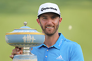 Dustin Johnson after winning<br /> With the trophy<br /> <br /> World Golf Championships-Dell Technologies Match Play, Austin Country Club, Austin, Texas,