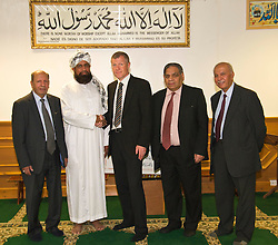 Pictured:  Mohammad Sleem Irshad (Chairperson of the Annandale Street Mosque), Imman Abdulghaffar, Willie Rennie,  Mohammad Aslam  and Bashir Malik (member of the Edinburgh Inter-Faith Association) <br /> <br /> Scottish Liberal Democrat  leader Willie Rennie headed to meet up with members of the Annandale Mosque, which has invited Donald Trump to visit while he is in Scotland this week to learn more about Islam.<br /> <br /> (c) Ger Harley | Edinburgh Elite media<br /> <br /> Scottish Liberal Democrat  leader Willie Rennie headed to meet up with members of the Annandale Mosque, which has invited Donald Trump to visit while he is in Scotland this week to learn more about Islam.<br /> <br /> (c) Ger Harley | Edinburgh Elite media