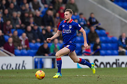 © Licensed to London News Pictures . 23/01/2016 . Oldham , UK . Oldham's CARL WINCHESTER on the ball . Oldham Athletic vs Bury at Boundary Park . Photo credit : Joel Goodman/LNP