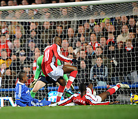 Chelsea/Arsenal Premier League 30.11.08 <br /> Photo: Tim Parker Fotosports International<br /> Johan Djourou Arsenal scores own goal for Chelsea