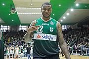 Avellino 30/04/2017 - Lega Basket Serie A - Campionato 2016/2017<br /> Sidigas Avellino - Pasta Reggia Caserta<br /> nella foto: esultanza shawn jones<br /> foto Ciamillo