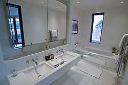 **Home supplement** © Ben Cawthra. 22/01/2013. The ensuite bathroom of the master bedroom of the penthouse apartment of The Lansbury, on Basil Street, London, recently refurbished in to 6 luxury apartments opposite Harrods in central London. Photo credit: Ben Cawthra.