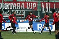 Milano 16-01-2005<br />Campionato  Serie A Tim 2004-2005<br />Milan Udinese<br />nella  foto esultanza di Shevchenko<br />Foto Snapshot / Graffiti