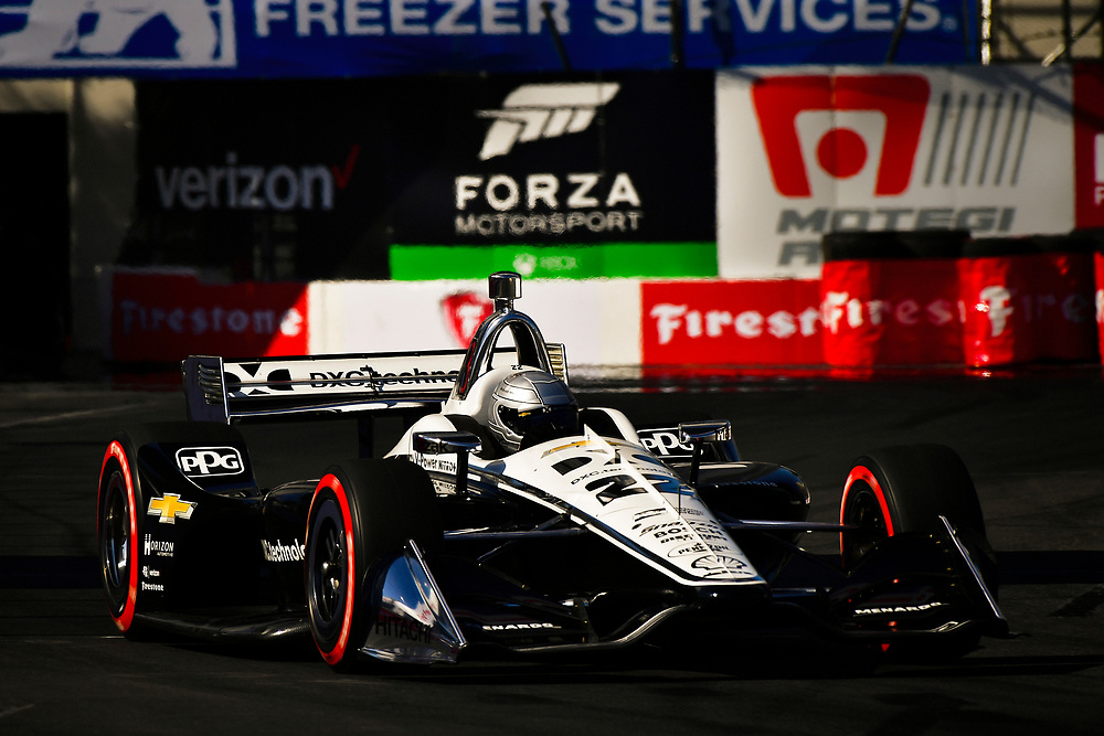 Simon Pagenaud, Team Penske Chevrolet<br /> Saturday 14 April 2018<br /> Toyota Grand Prix of Long Beach<br /> Verizon IndyCar Series<br /> Streets of Long Beach, California USA<br /> World Copyright: Scott R LePage<br /> LAT Images