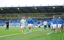 Rovers team warm up prior to kick off. - Mandatory byline: Alex James/JMP - 17/01/2016 - FOOTBALL - The Kassam Stadium - Oxford, England - Oxford United v Bristol Rovers - Sky Bet League Two