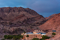 Feynan Ecolodge, Dana Biosphere Reserve, Jordan. Hailed as one of the best 25 ecolodges in the world by National Geographic Traveler Magazine. The lodge is solar powered. At night, lights out, it's lit by candlelight.