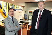 BOLOGNA 27 MAGGIO 2010 <br /> BASKET FINAL UNDER 19<br /> NELLA FOTO Claudio Sabatini Dino Meneghin<br /> FOTO CIAMILLO