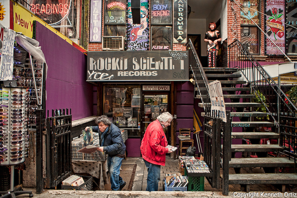 St. Mark's Place in Soho in New York City.