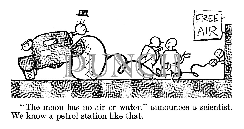 """The moon has no air or water,"" announces a scientist. We know a petrol station like that."