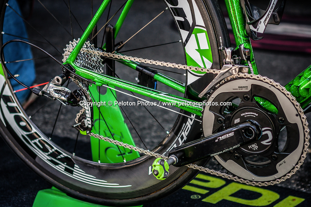 Cannondale bike of Peter Sagan, Tour de France, Stage 21: Évry > Paris Champs-Élysées, UCI WorldTour, 2.UWT, Paris Champs-Élysées, France, 27th July 2014, Photo by Pim Nijland / PelotonPhotos.com