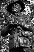 The Statues of London,England. October 2012<br /> Seen here : Field Marshall The Viscount Slim, outside the Ministry of Defence building.<br /> Field Marshal William Joseph &quot;Bill&quot; Slim, 1st Viscount Slim, KG, GCB, GCMG, GCVO, GBE, DSO, MC, KStJ (6 August 1891 &ndash; 14 December 1970) was a British military commander and the 13th Governor-General of Australia.<br /> He fought in both the First and Second world wars and was wounded in action three times. During World War II he led the 14th Army, the so-called &quot;forgotten army&quot; in the Burma campaign. From 1953 to 1959 he was Governor-General of Australia, regarded by many Australians as an authentic war hero who had fought with the Anzacs at Gallipoli.[2]<br /> <br /> We pass them without so much of a glance but I decided to walk the embankment and Westminster area of London and take a good long look at the Statues of London. Most of the works are of Victorians many we have never heard of such as those who reformed  the British educations system or built our drains or who gave us clean drinking water. Others are those who helped to defend this country from the Victorian era to the present day.