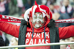 October 8, 2017 - Warsaw, Poland - The polish fan enjoy the atmosphere during the FIFA World Cup 2018 Qualifying Round Group E match between Poland and Montenegro at National Stadium in Warsaw, Poland on October 8, 2017  (Credit Image: © Andrew Surma/NurPhoto via ZUMA Press)