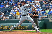 KANSAS CITY, MO - SEPTEMBER 12: Chicago White Sox relief pitcher Danny Farquhar (43) during a Major League baseball game between the Chicago White Sox and the Kansas City Royals on September 12, 2017, at Kauffman Stadium in St. Louis, MO. (Photo by Keith Gillett/Icon Sportswire)