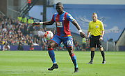 Yannick Bolasie taking control during the Barclays Premier League match between Crystal Palace and West Bromwich Albion at Selhurst Park, London, England on 3 October 2015. Photo by Michael Hulf.