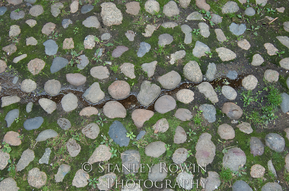 Beacon Hill; Boston; detail; leaves; pattern. patterns; stones; street
