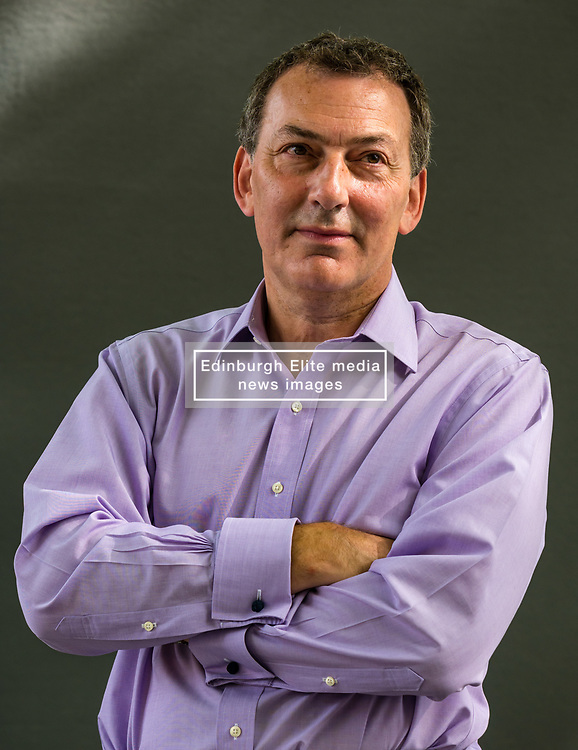 Pictured: Edinburgh International Book Festival, Edinburgh, Scotland, United Kingdom, 24 August 2019. Pictured: Mark Urban, journalist, historian, and broadcaster, and is currently the Diplomatic Editor and presenter for BBC Two's Newsnight, talks about his book 'The Skripal Files: The Life and Near Death of a Russian Spy' at the book festival today.<br /> Sally Anderson | EdinburghElitemedia.co.uk