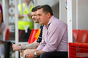 Barnet FC Manager Martin Allen during the Sky Bet League 2 match between Crawley Town and Barnet at the Checkatrade.com Stadium, Crawley, England on 7 May 2016. Photo by Andy Walter.